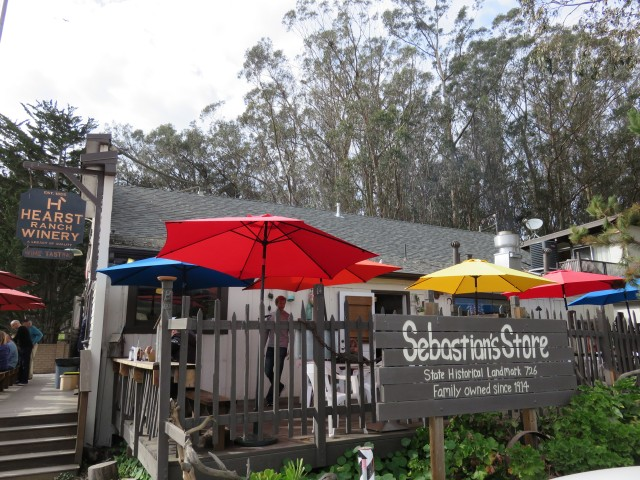 Sebastian's Deli at Hearst Ranch serves local beef and farm fresh vegetables. Uh-mazing beef burger and fries - hands down, the best we have ever tasted. Ever.