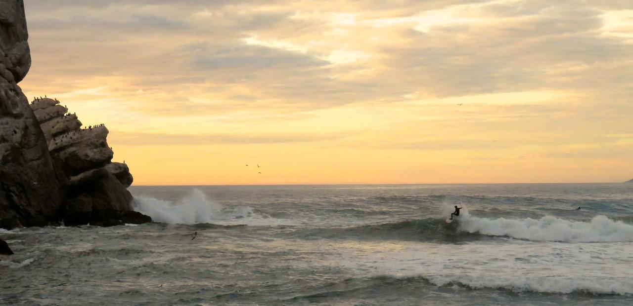 Surf's up at Morro Bay