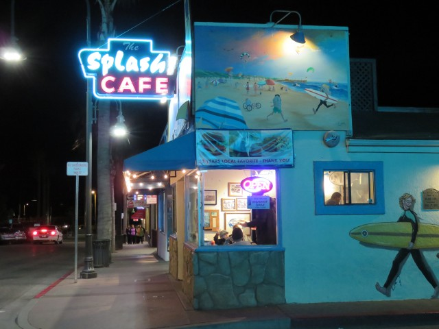 The BEST Pacific clam chowder EVER is at Splash Cafe - there are several locations in SLO County.
