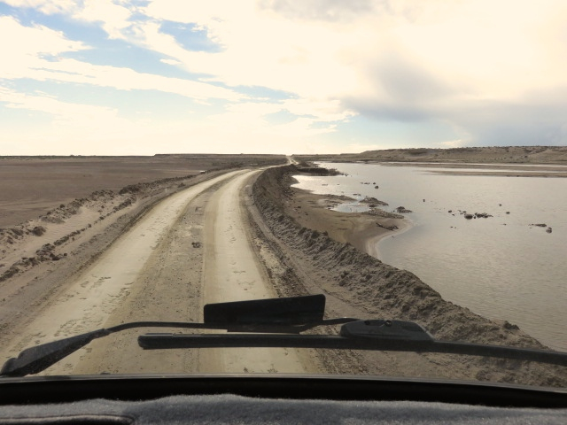The last 45 minutes of our drive into camp was a rough washboard dirt road.