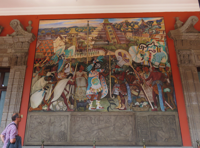 Diego Rivera mural in the Palacio Nacional