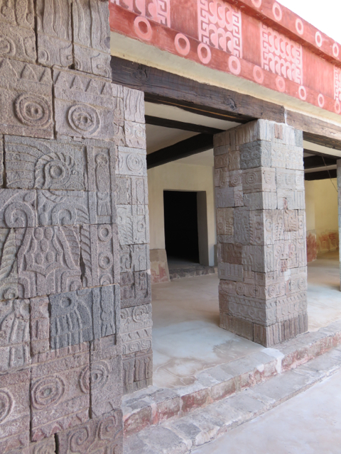 Restored carvings and frescoes