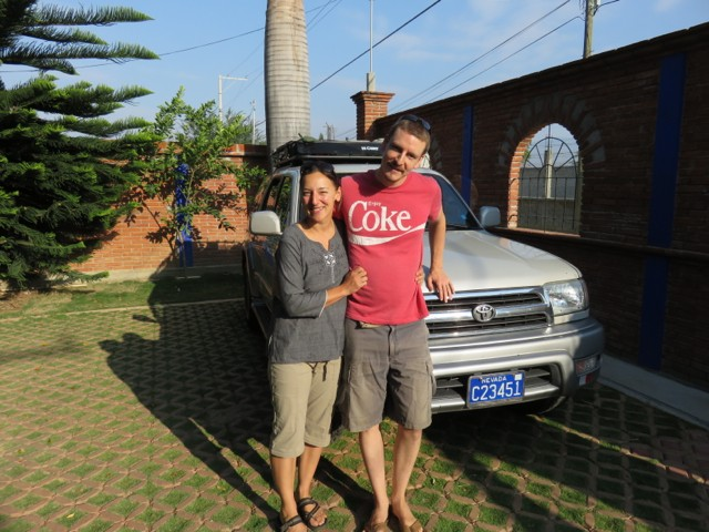 Canadians-turned-Americans Travis and Amanda are also traveling in their Toyota