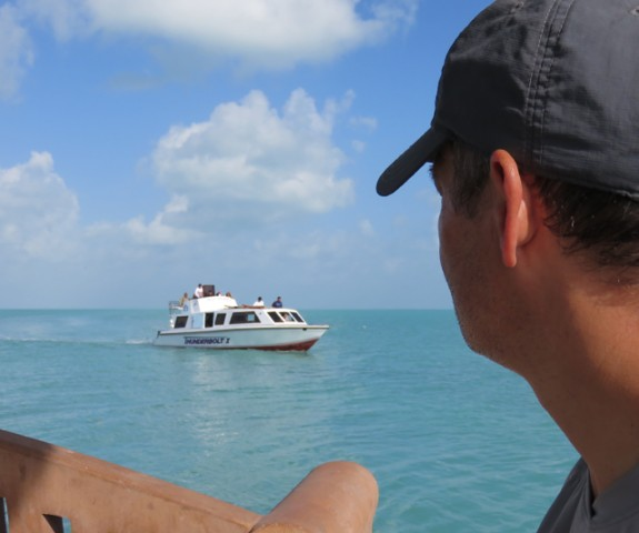 Water taxis are the most convenient way to island-hop in Belize.