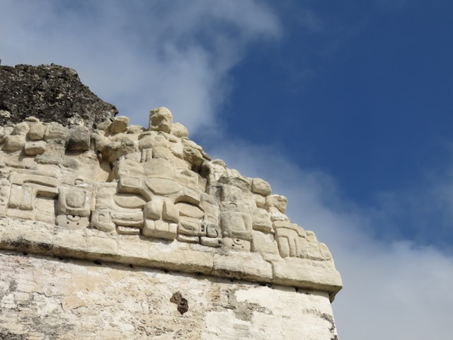 Detail on Temple of the Masks