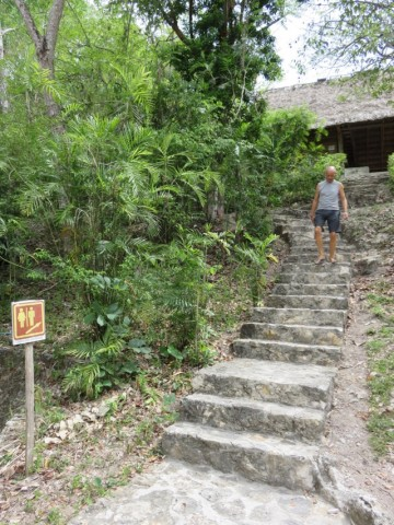 The long flight of stairs to the campground bathrooms. Obviously it was placed there to prepare us for climbing the pyramids in the park.