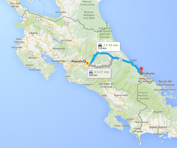 Map_Alajuela_Cahuita