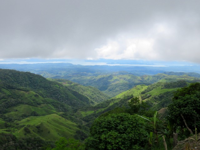 View of the Pacific coast from the central highlands near Monteverde