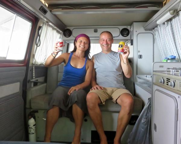 Beer o'clock at Dominical Beach
