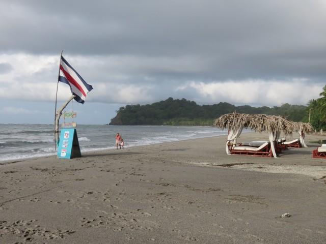 Rainclouds building up at Playa Sámara