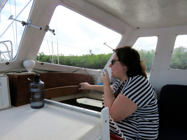 Christine was a pro with the VHF radio