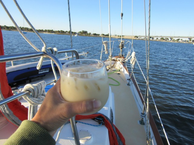 …but our official boat drink was piña coladas