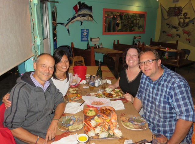 Awesome seafood at Gettin' Crabby in the town of Stuart