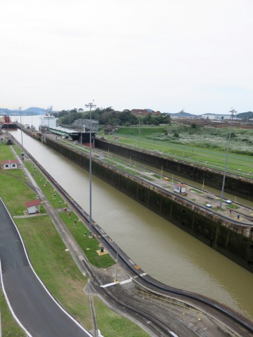 Big ship coming through the Panama Canal