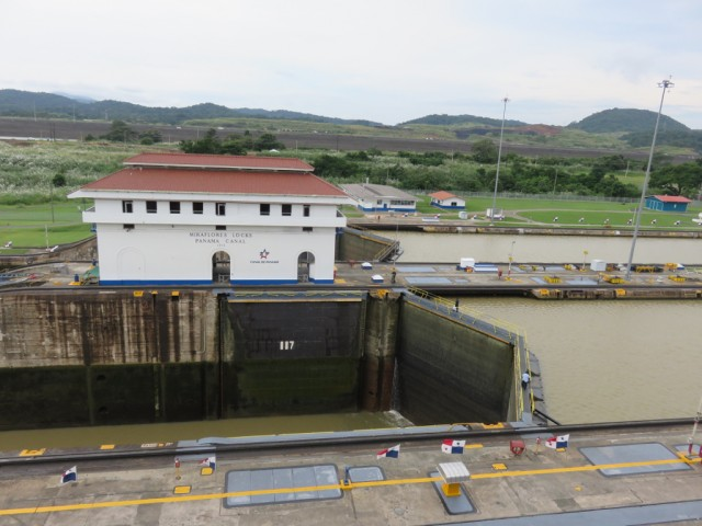 Miraflores Locks at the Panama Canal