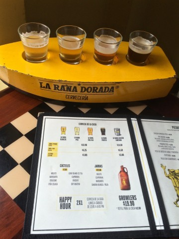 We enjoyed some craft beer in Panama City - prices are in USD