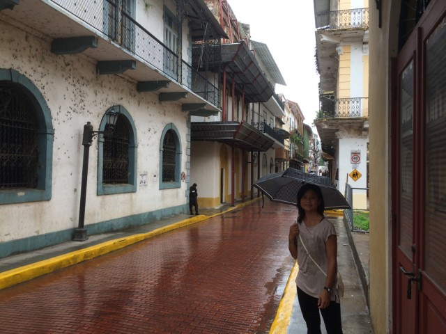 Strolling through, Casco Viejo, the colonial quarter of the city