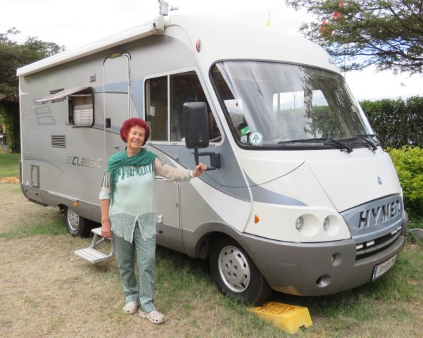 We first met German overlander, Hermina, at Iguana 4x4. She has been on the road by herself for 3 years in her Fiat motorhome.
