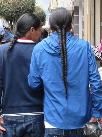 Many men wear long braids