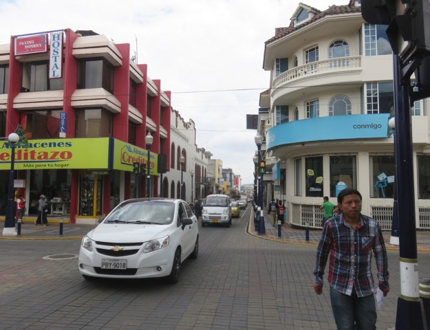 A typical street in Otavalo
