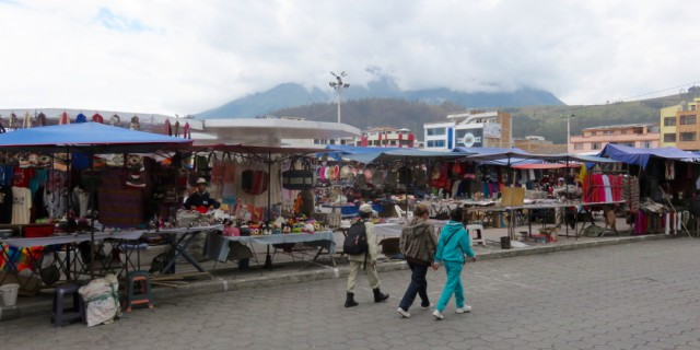 Plaza de Ponchos during the day