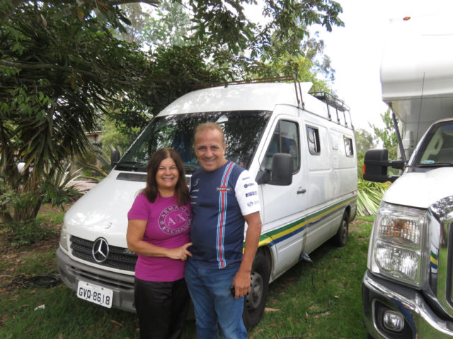We also met Brazilian overlanders, Nelson and Gladis.