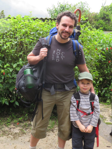 At Pequeño Paraiso, we met Nicolas and his 5-year-old son Michael. They're from Montreal, Canada, and are backpacking through Ecuador together.