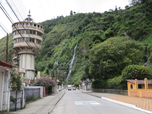 Baños is known for its natural baths and waterfalls…