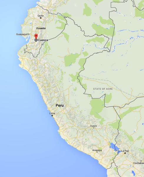 Map Cuenca Peru