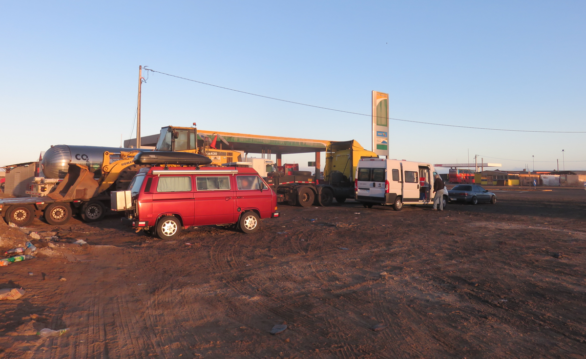 "Petrobras was our first Chilean ""gas station campground"""