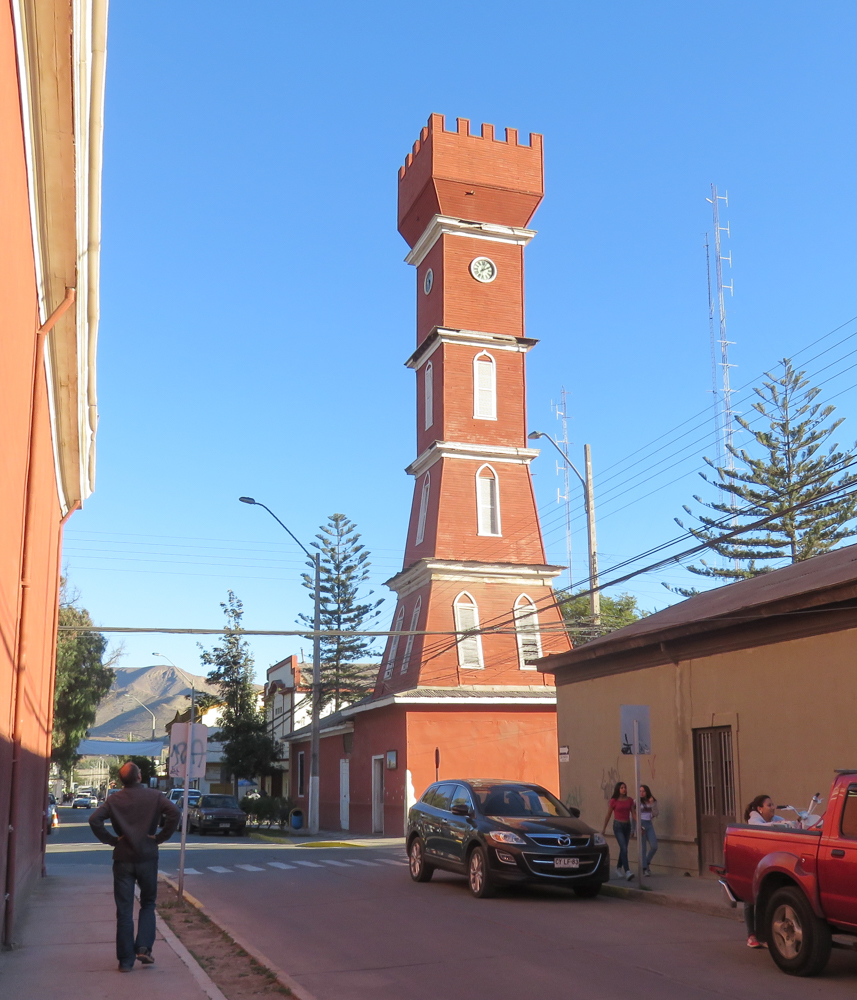 Bauer tower in central Vicuña