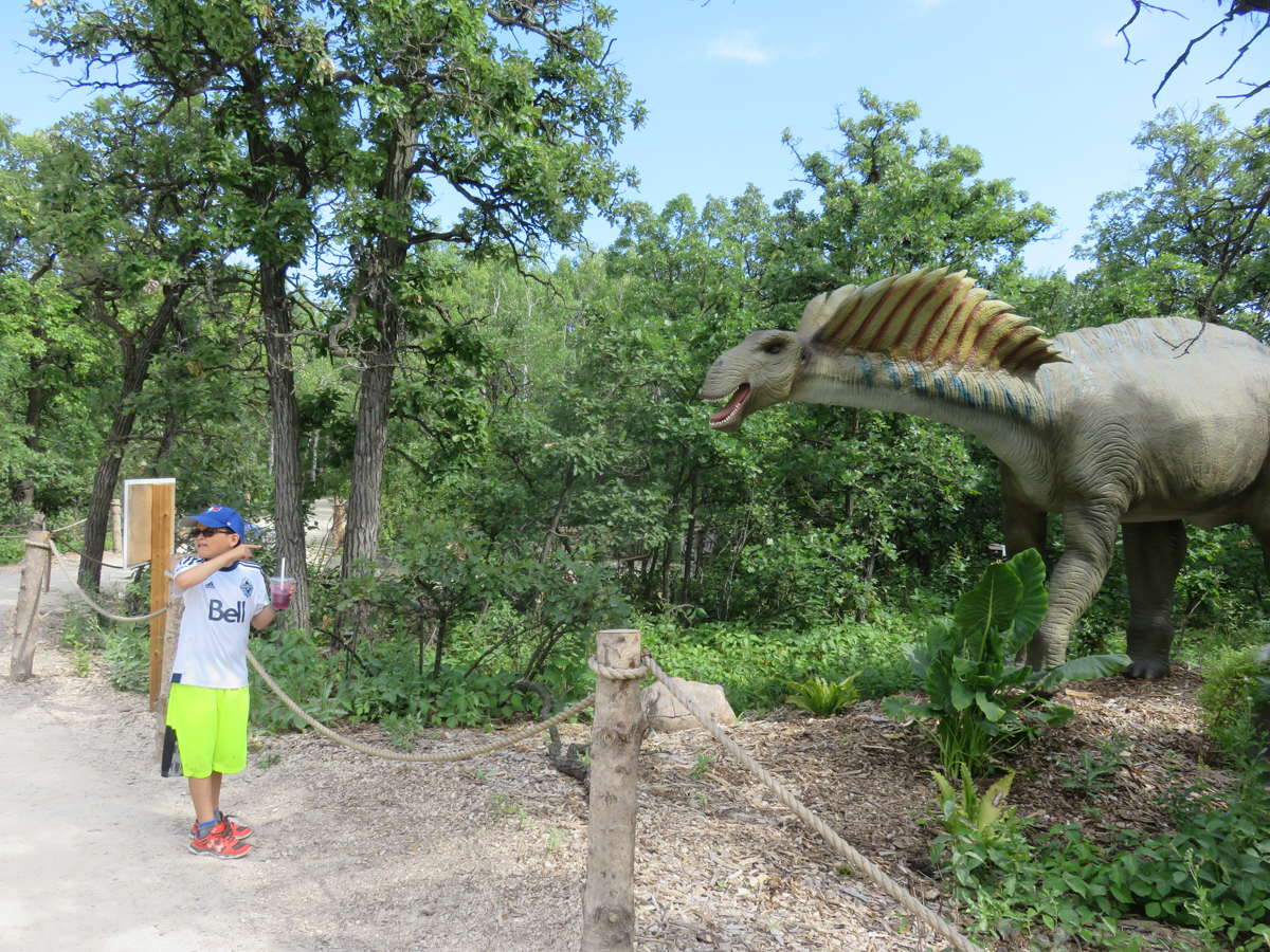 Nephew Alex at Assiniboine Park Zoo