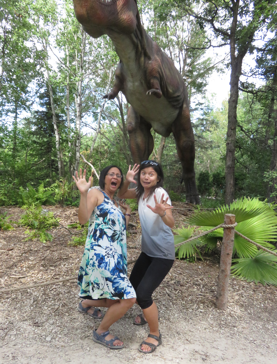 Janice and Janice with T-Rex