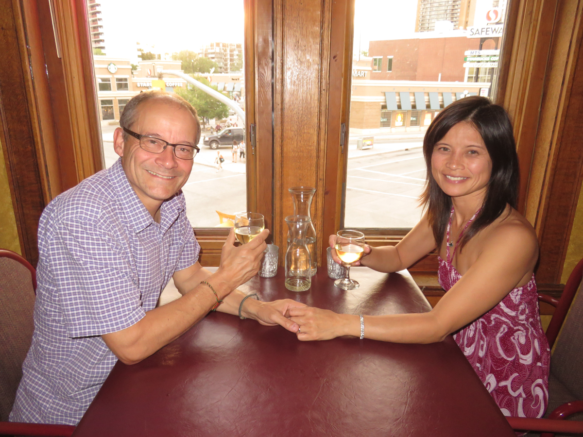 Gregor and I celebrated our 18th Wedding Anniversary at the place where I proposed to him: Bankok Thai Restaurant in Osborne Village